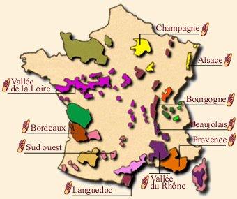 Wijngebieden frankrijk